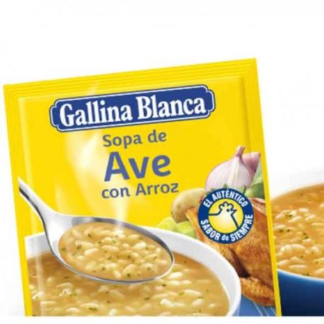 Sopa Ave con Arroz Gallina Blanca