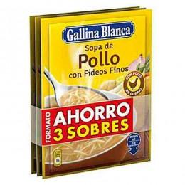 Sopa Pollo Fideos Gallina Blanca Pack 3