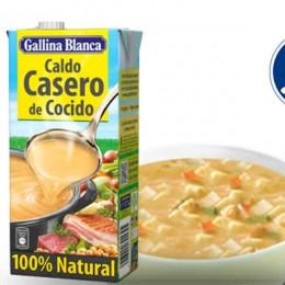 Caldo 100% Natural de Cocido Gallina Blanca