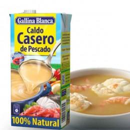 Caldo 100% Natural de Pescado Gallina Blanca