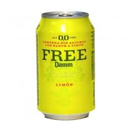 Cerveza Free Damm Lemon Lata 33cl