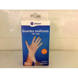 Guantes Coaliment Latex Mediano
