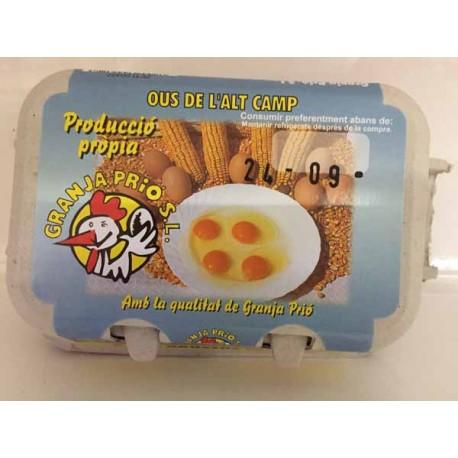 Huevos Granja Prió L 6u.