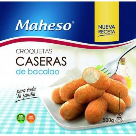 Croquetas caseras Bacalao Maheso