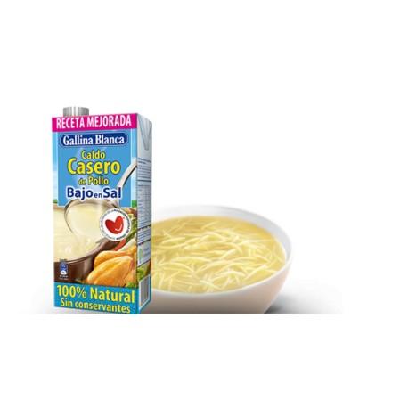 Caldo Gallina Balnca 100% Pollo Bajo en sal 1L