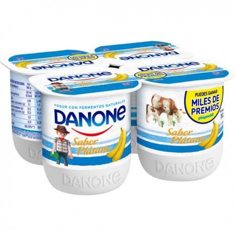 Yogurt Sabor Plátano Danone