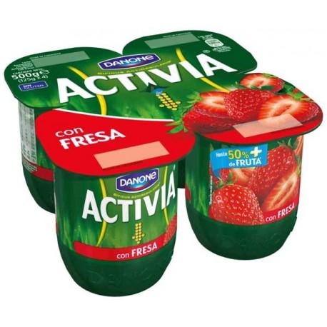 Activia 0% con fresas Danone