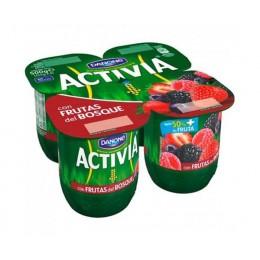 Activia 0% con Frutas del Bosque Danone