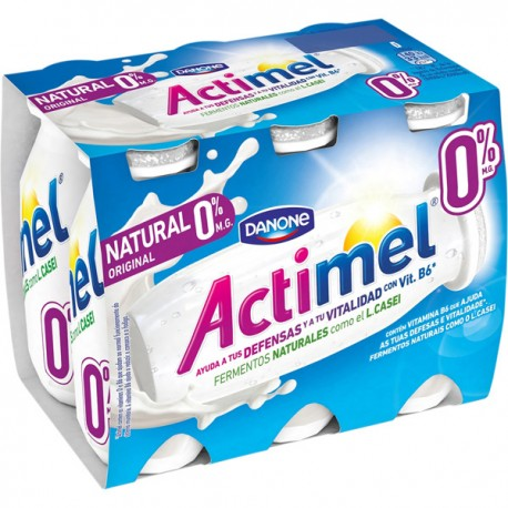 Actimel 0% Natural Danone