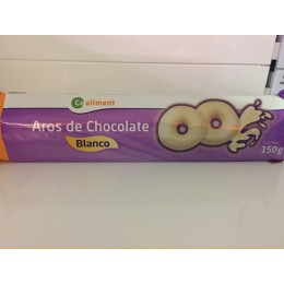 Galletas Aros Chocolate Blanco Coaliment