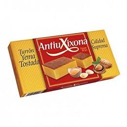 Turrón Antiu Xixona Etiqueta Roja Yema Tostada