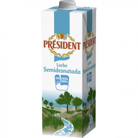 Leche Semidesnatada President