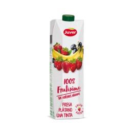Zumo Juver Fresa Platano Uva 100% Frutisima 1L.