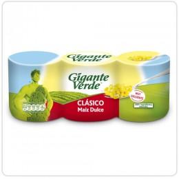 Maiz dulce Gigante Verde pack 3 latas