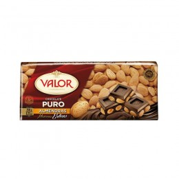 Valor Chocolate Puro Almendra 250 g.