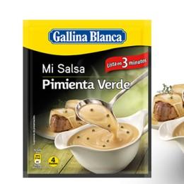 Salsa Gallina Blanca Pimienta verde