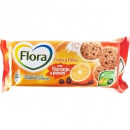 Galletas Flora Fruta y Fibra Naranja