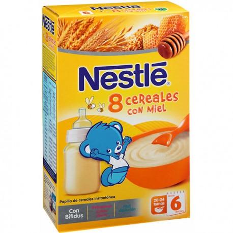 Papilla Nestlé 8 Cereales Miel 600grs