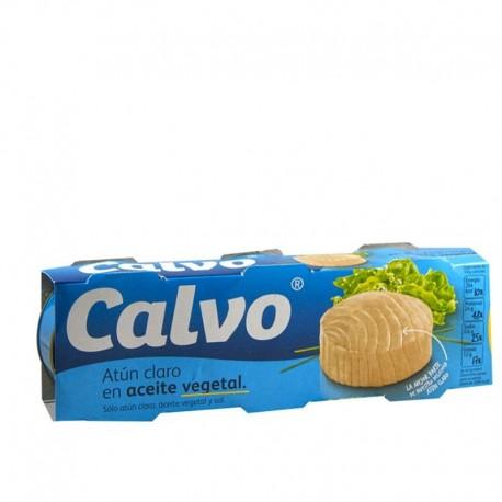 Atun Claro Calvo Aceite Vegetal Pack 3 latas