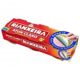Atun Claro Rianxeira Aceite Oliva Pack 3 latas