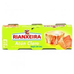 Atun Claro Rianxeira Aceite Oliva Bajo en sal Pack 3 latas