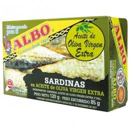 Sardinas Albo Aceite oliva virgen 120grs