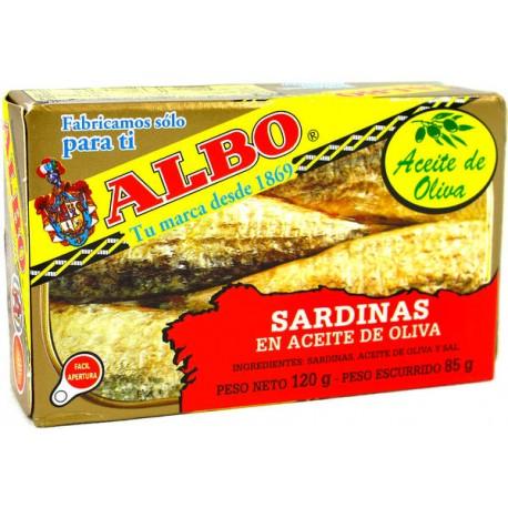 Sardinas Albo Aceite oliva 120grs