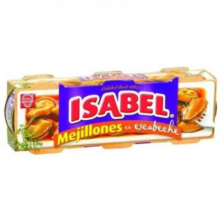 Mejillones Isabel Escabeche Pack 3 latas