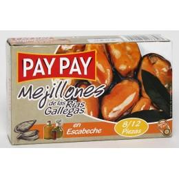 Mejillones Pay Pay Escabeche 8/12 piezas