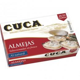 Almejas Naturales Cuca 16/22 piezas