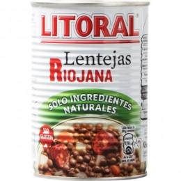 Lentejas Riojanas Litoral Lata 440gr