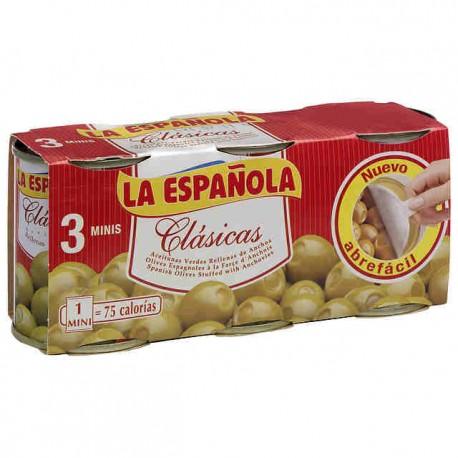 Aceitunas La Española Rellenas Normal pack 3