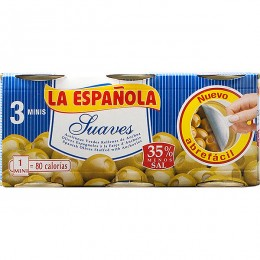 Aceitunas La Española Rellenas Suave pack 3